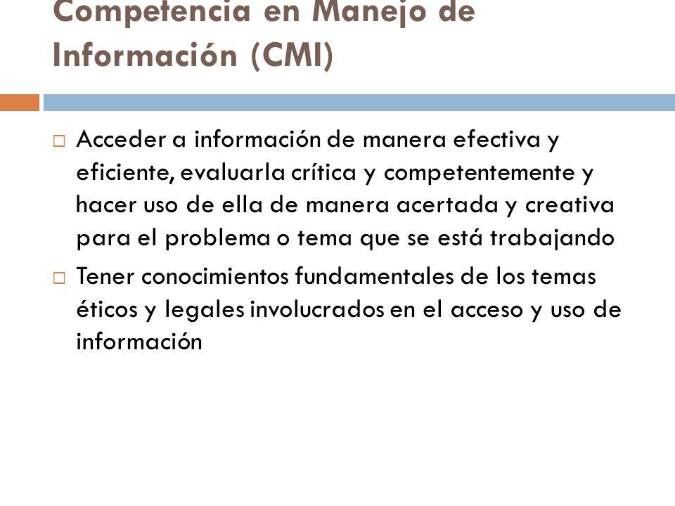 Competencia en Manejo de Información (CMI)