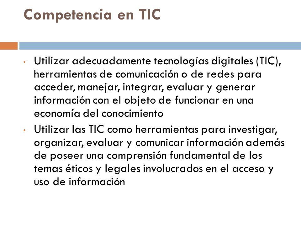 Competencia en TIC