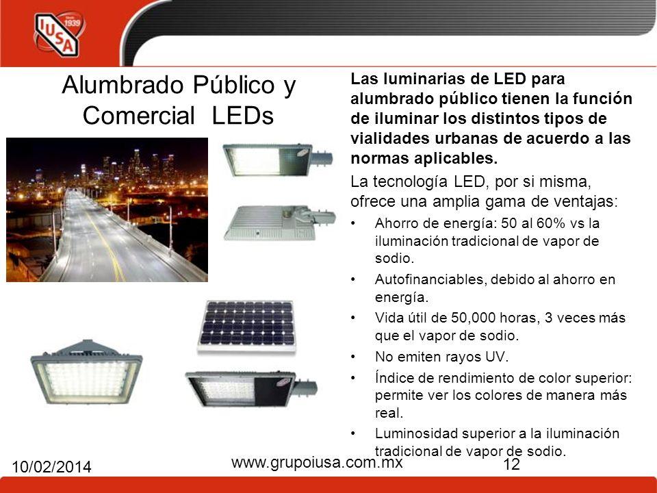 Alumbrado Público y Comercial LEDs
