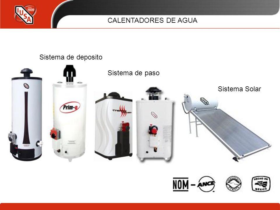 CALENTADORES DE AGUA Sistema de deposito Sistema de paso Sistema Solar 24/03/2017