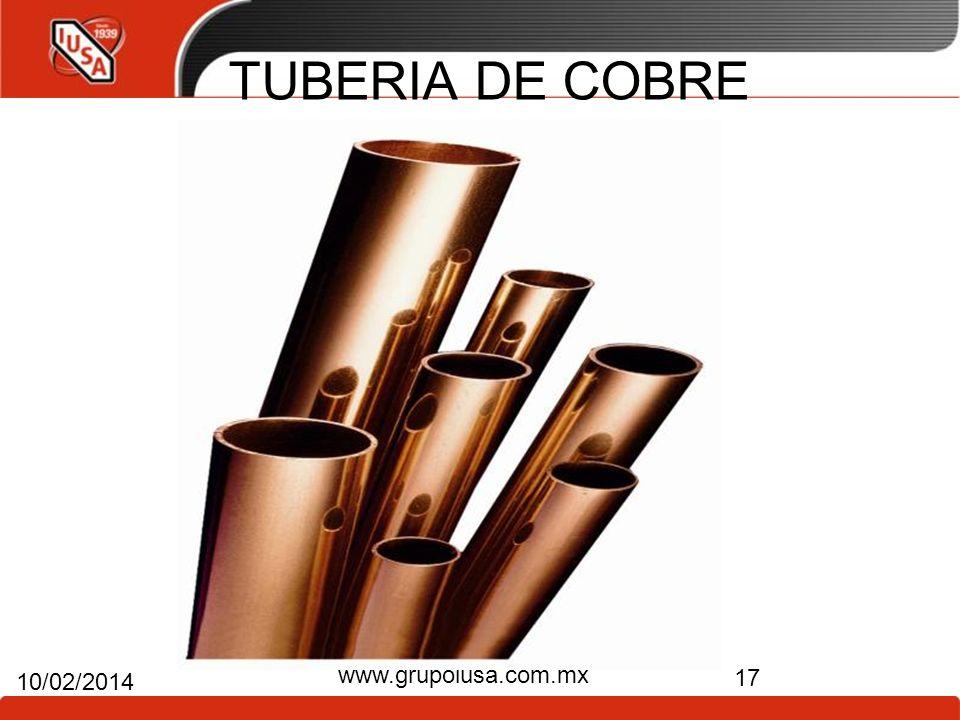 TUBERIA DE COBRE www.grupoiusa.com.mx 24/03/2017