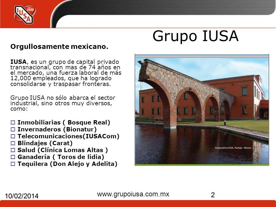 Grupo IUSA www.grupoiusa.com.mx 24/03/2017 24/03/2017 2