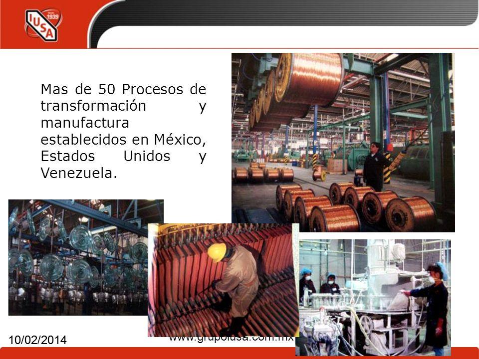Mas de 50 Procesos de transformación y manufactura establecidos en México, Estados Unidos y Venezuela.
