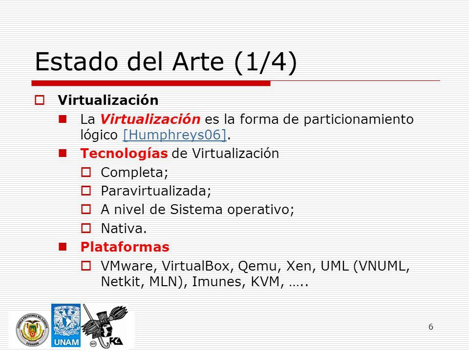 Estado del Arte (1/4) Virtualización
