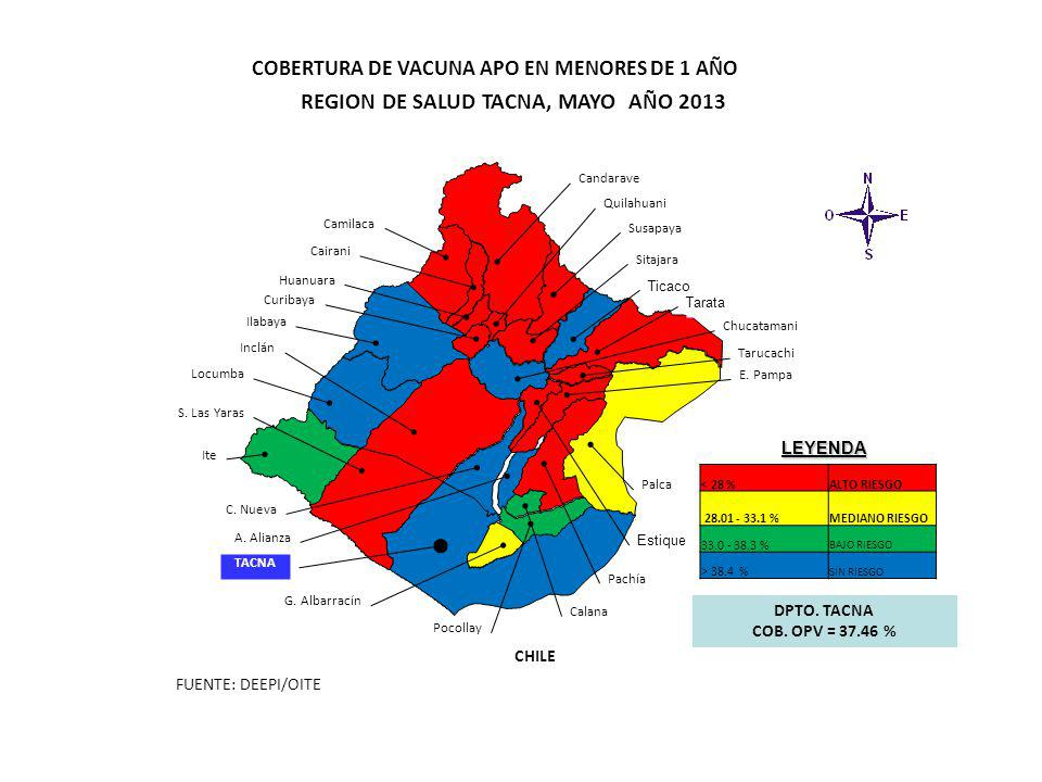 REGION DE SALUD TACNA, MAYO AÑO 2013
