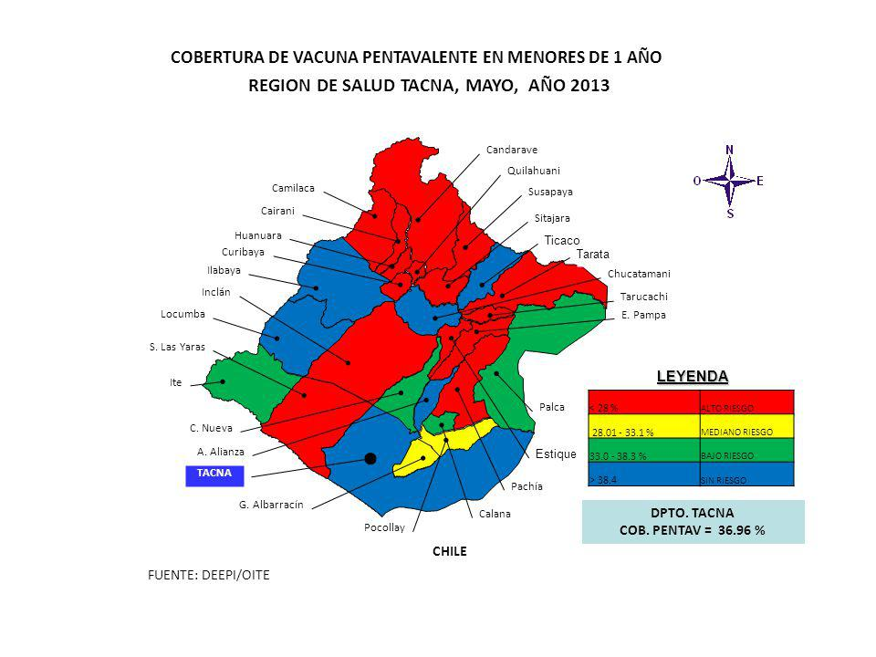 REGION DE SALUD TACNA, MAYO, AÑO 2013