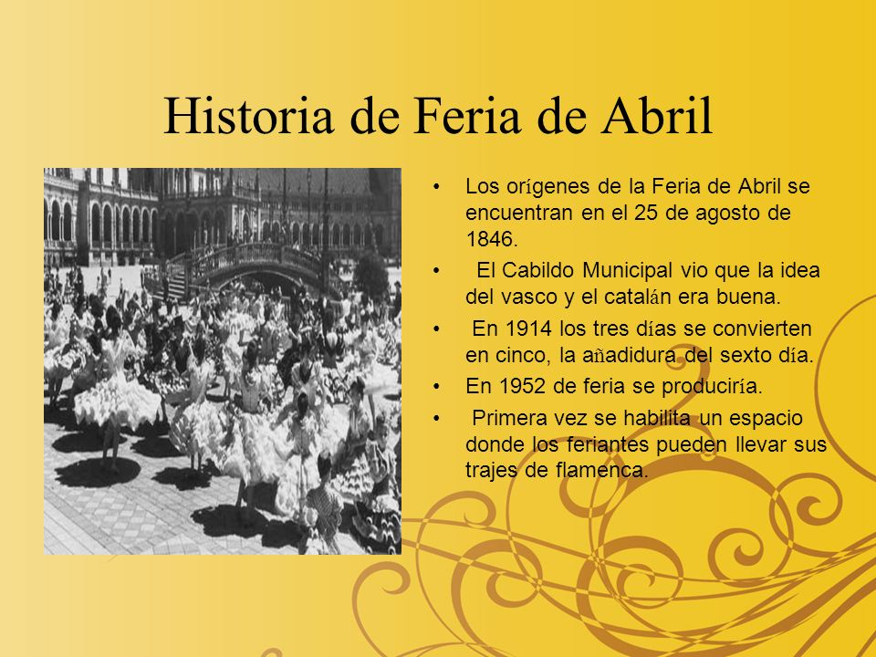 Historia de Feria de Abril