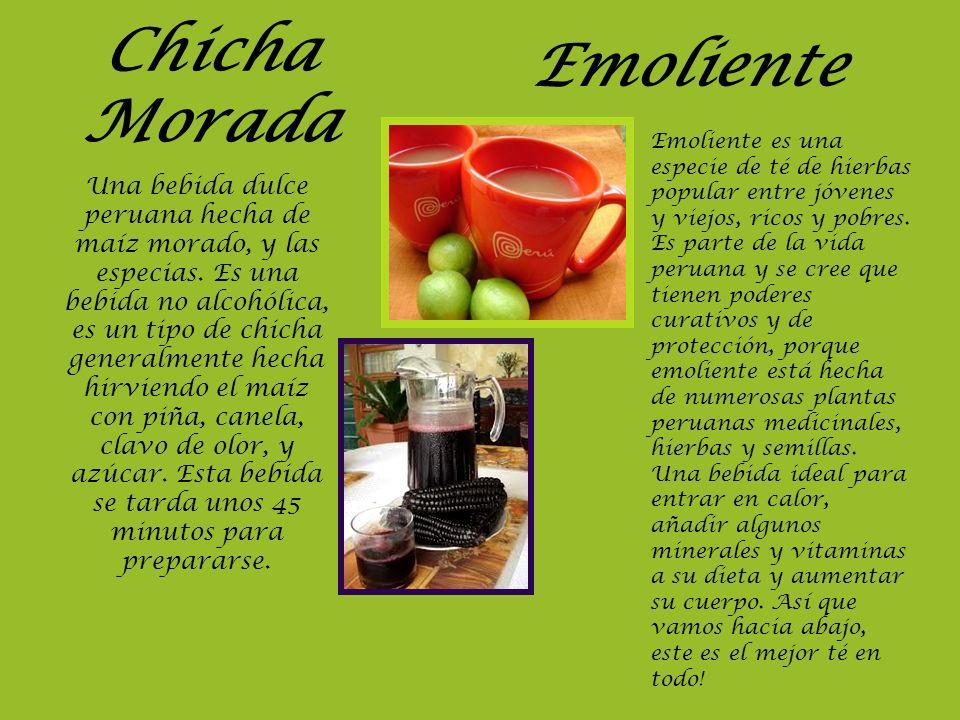 Chicha Morada Emoliente