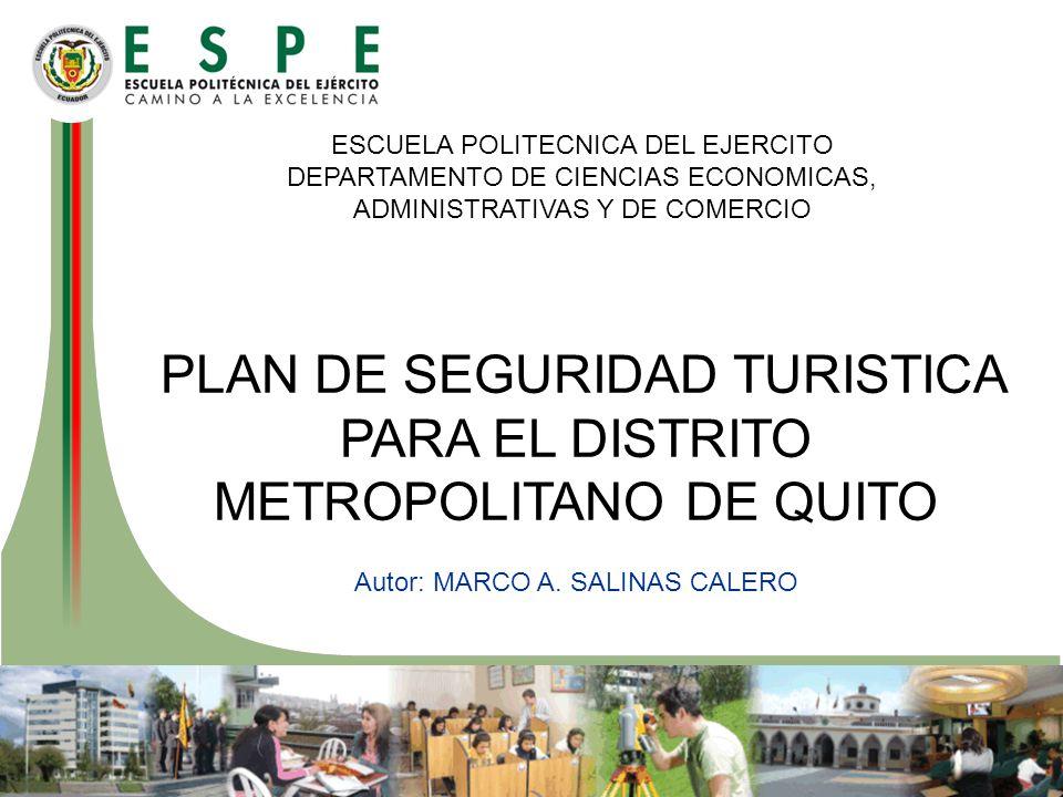 PLAN DE SEGURIDAD TURISTICA PARA EL DISTRITO METROPOLITANO DE QUITO
