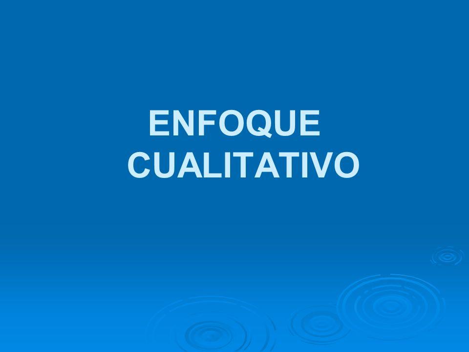 ENFOQUE CUALITATIVO