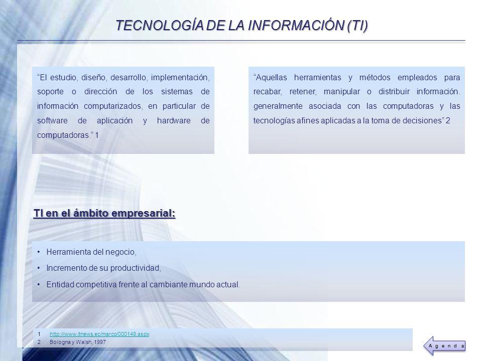 TECNOLOGÍA DE LA INFORMACIÓN (TI)