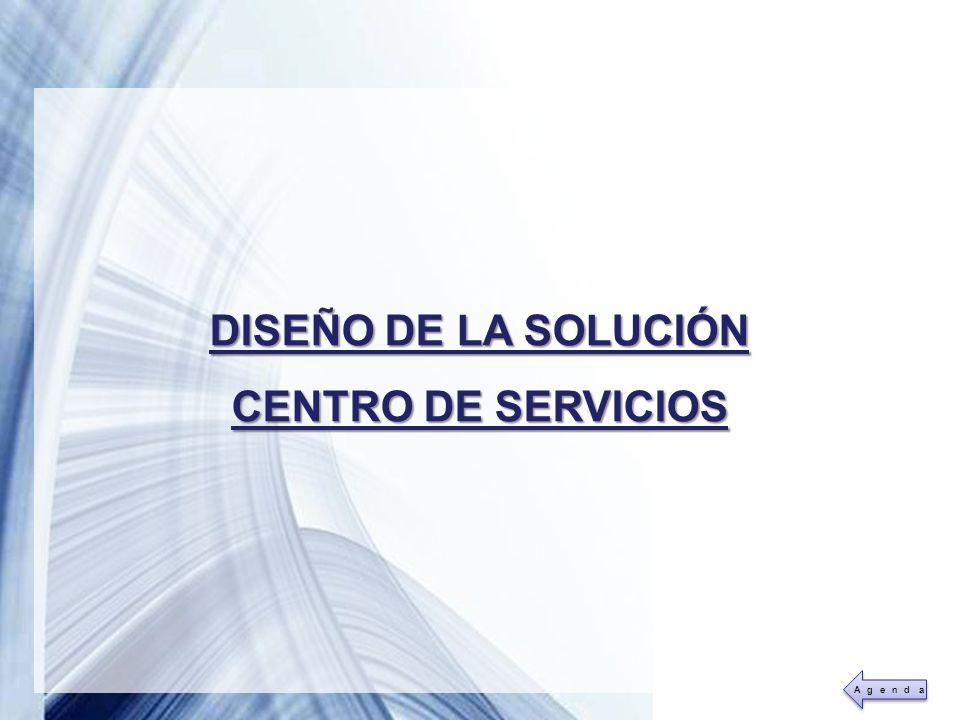 DISEÑO DE LA SOLUCIÓN CENTRO DE SERVICIOS