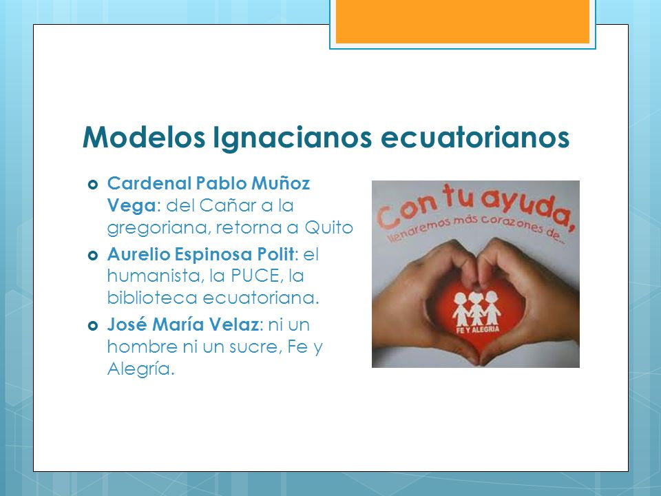 Modelos Ignacianos ecuatorianos