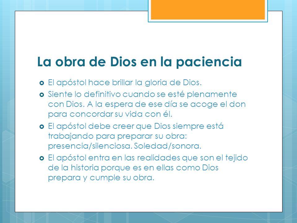 La obra de Dios en la paciencia