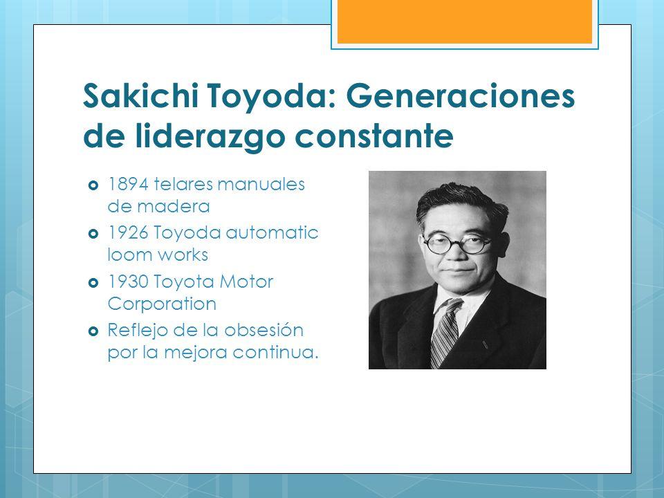 Sakichi Toyoda: Generaciones de liderazgo constante