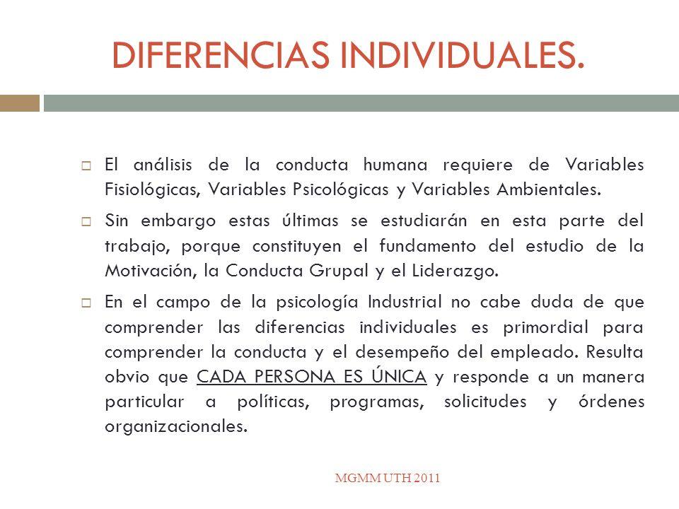 DIFERENCIAS INDIVIDUALES.