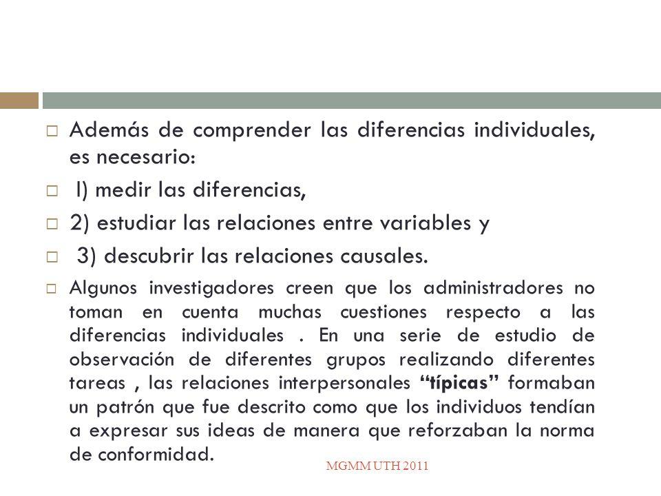 Además de comprender las diferencias individuales, es necesario: