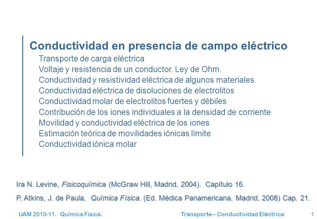 Conductividad en presencia de campo eléctrico