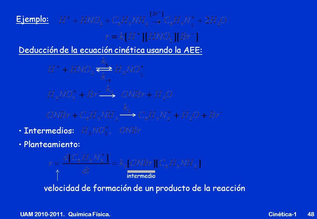 UAM 2010-2011. Química Física. Cinética-1