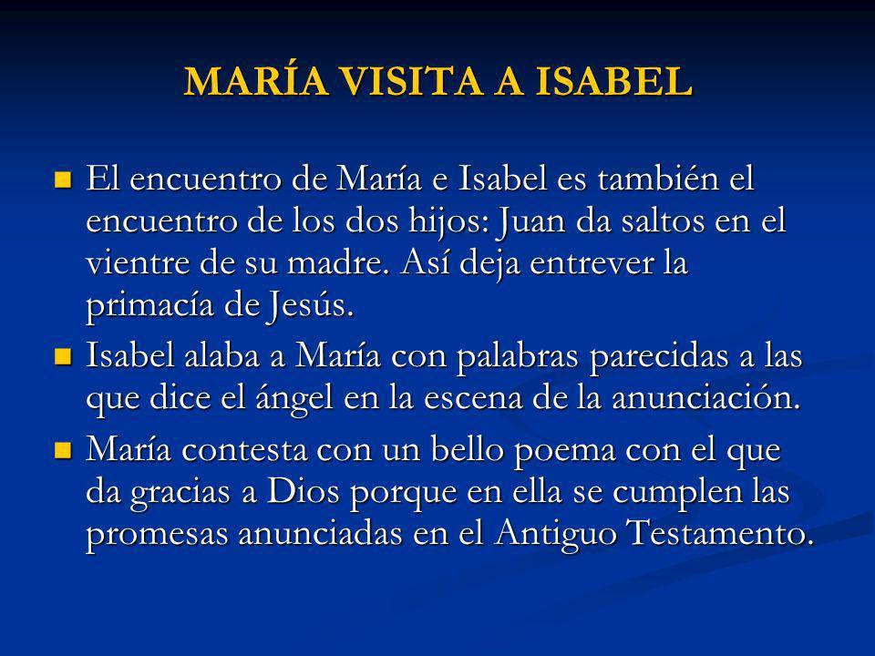 MARÍA VISITA A ISABEL