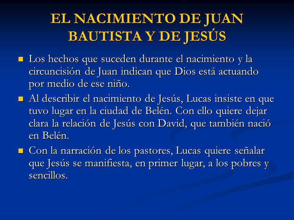 EL NACIMIENTO DE JUAN BAUTISTA Y DE JESÚS
