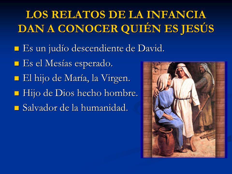 LOS RELATOS DE LA INFANCIA DAN A CONOCER QUIÉN ES JESÚS