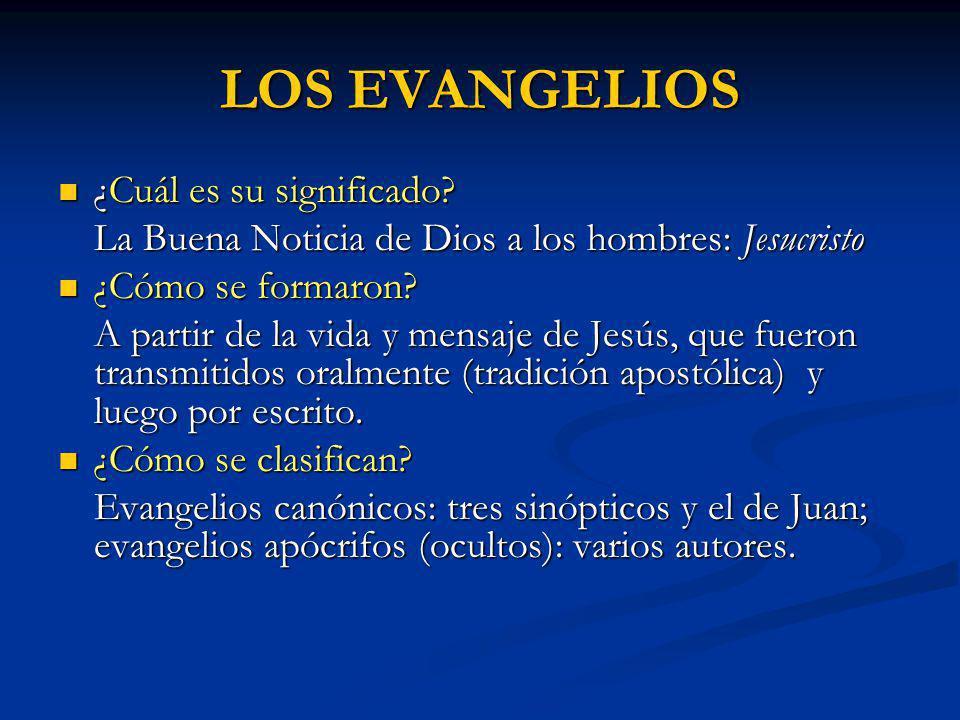 LOS EVANGELIOS ¿Cuál es su significado
