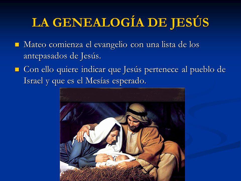 LA GENEALOGÍA DE JESÚS Mateo comienza el evangelio con una lista de los antepasados de Jesús.