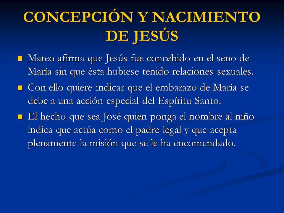 CONCEPCIÓN Y NACIMIENTO DE JESÚS