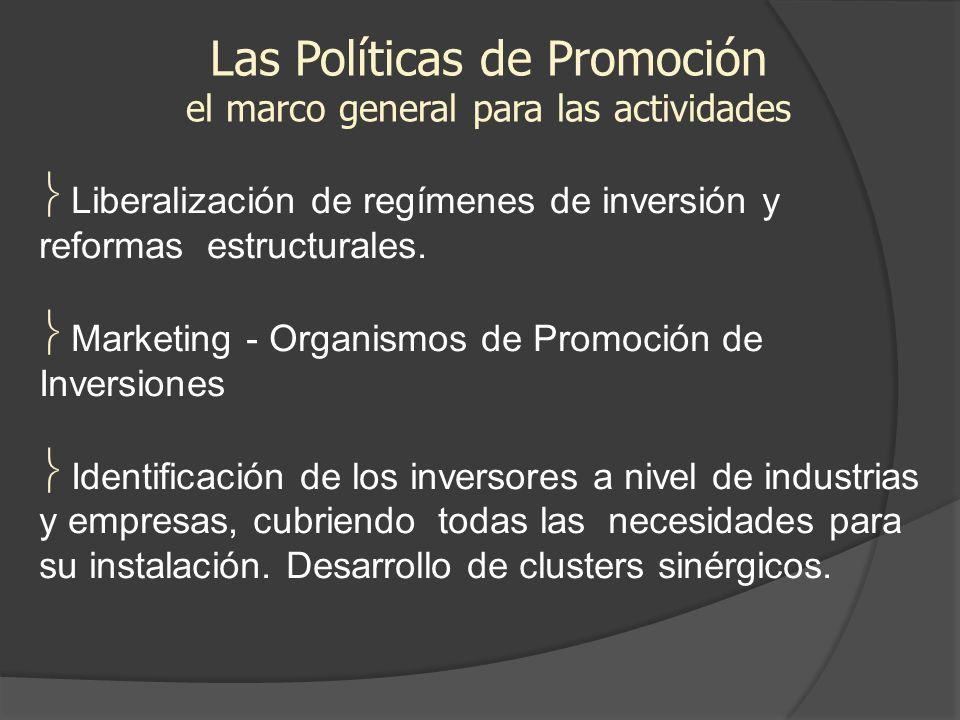 Las Políticas de Promoción el marco general para las actividades