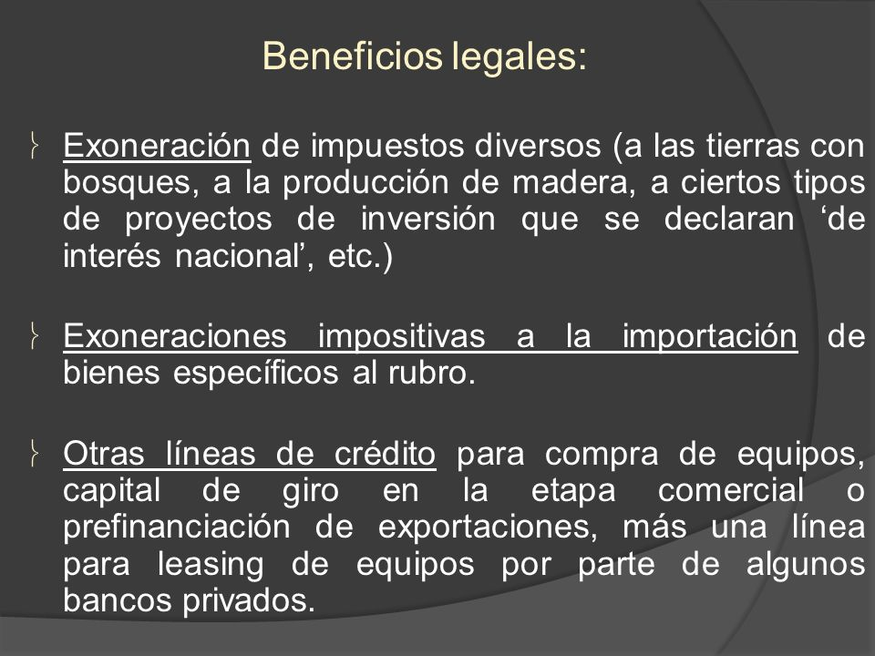 Beneficios legales: