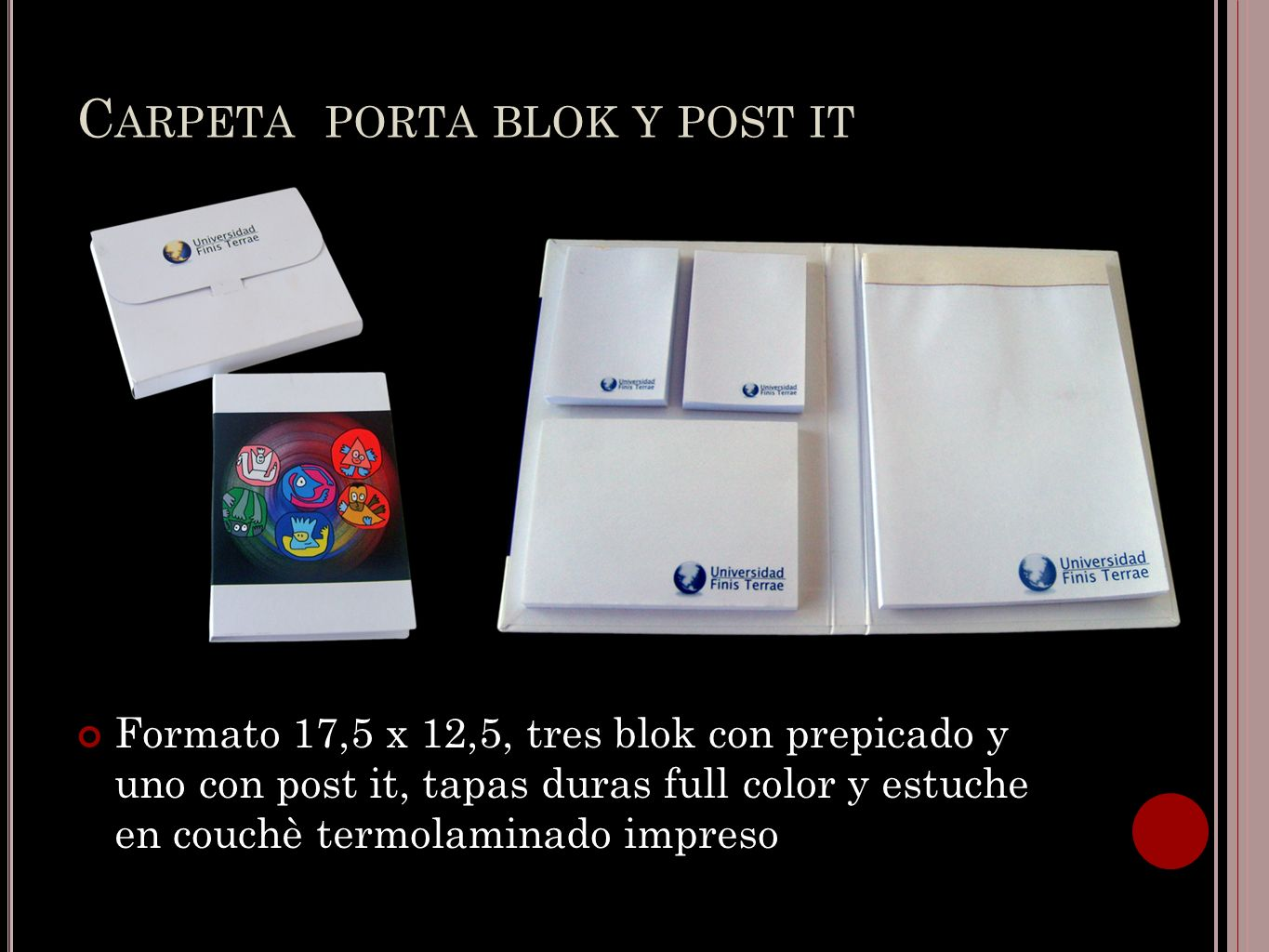 Carpeta porta blok y post it