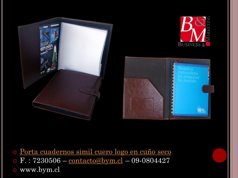 Porta cuadernos simil cuero logo en cuño seco