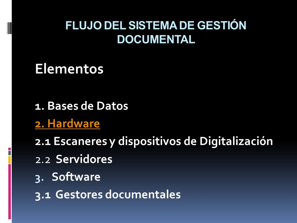 FLUJO DEL SISTEMA DE GESTIÓN DOCUMENTAL