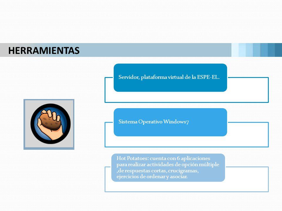 HERRAMIENTAS Servidor, plataforma virtual de la ESPE-EL.