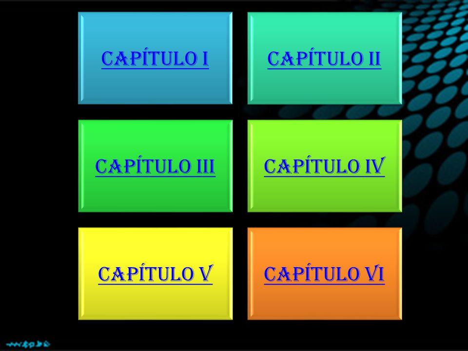 CAPÍTULO I CAPÍTULO II CAPÍTULO III CAPÍTULO IV CAPÍTULO V CAPÍTULO VI
