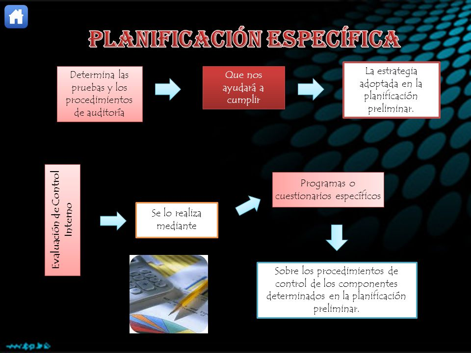 PLANIFICACIÓN ESPECÍFICA Evaluación de Control Interno