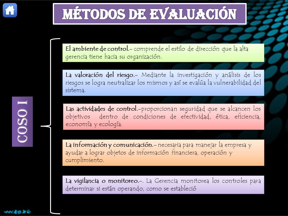 Métodos de Evaluación COSO I