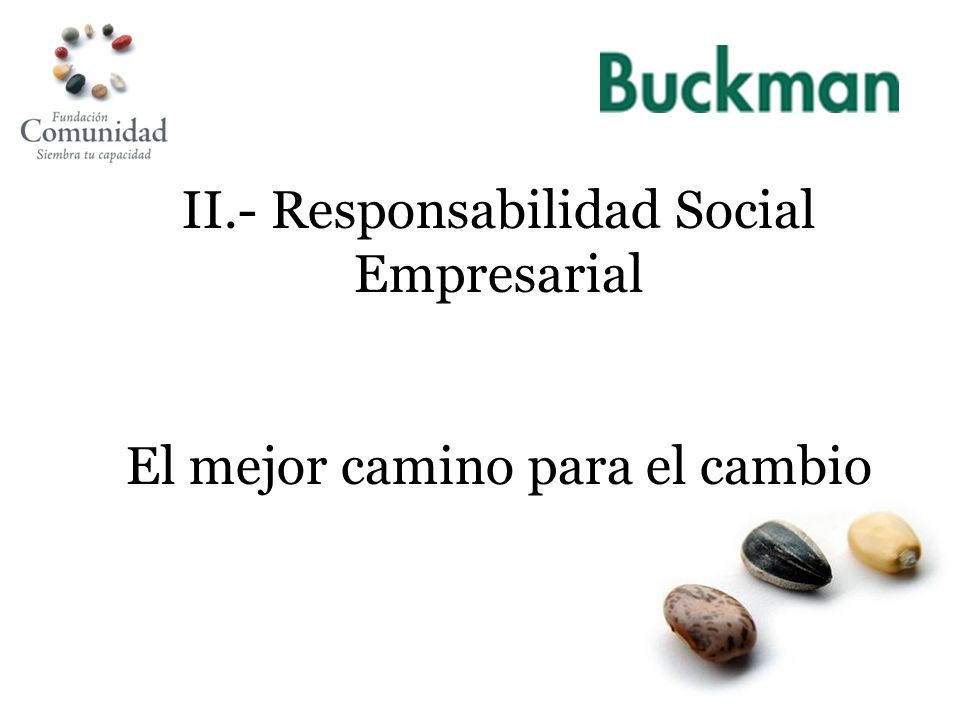 II.- Responsabilidad Social Empresarial