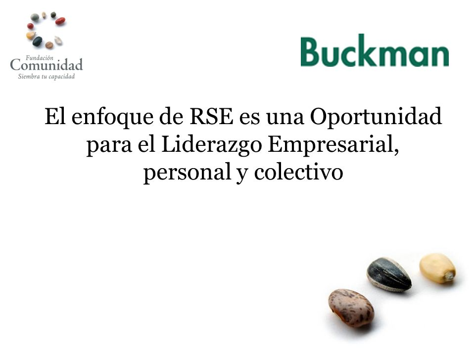 El enfoque de RSE es una Oportunidad para el Liderazgo Empresarial, personal y colectivo