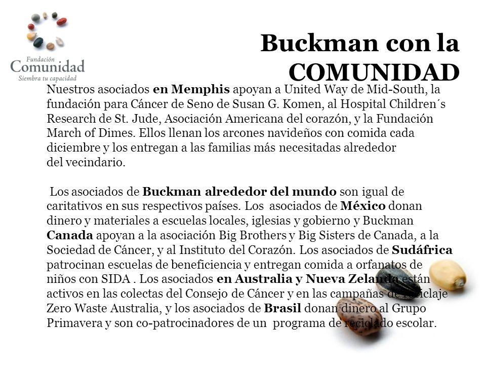 Buckman con la COMUNIDAD