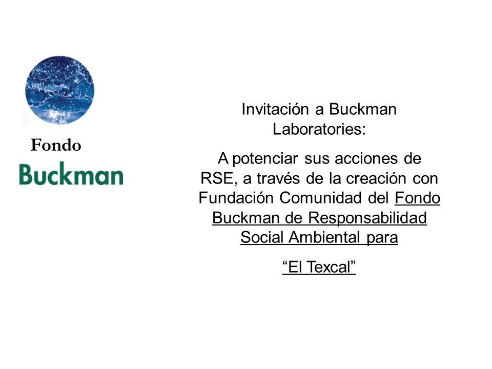 Invitación a Buckman Laboratories: