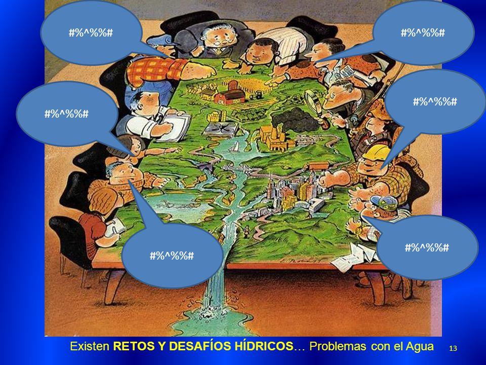 #%^%%# #%^%%# #%^%%# #%^%%# #%^%%# #%^%%# Existen RETOS Y DESAFÍOS HÍDRICOS… Problemas con el Agua