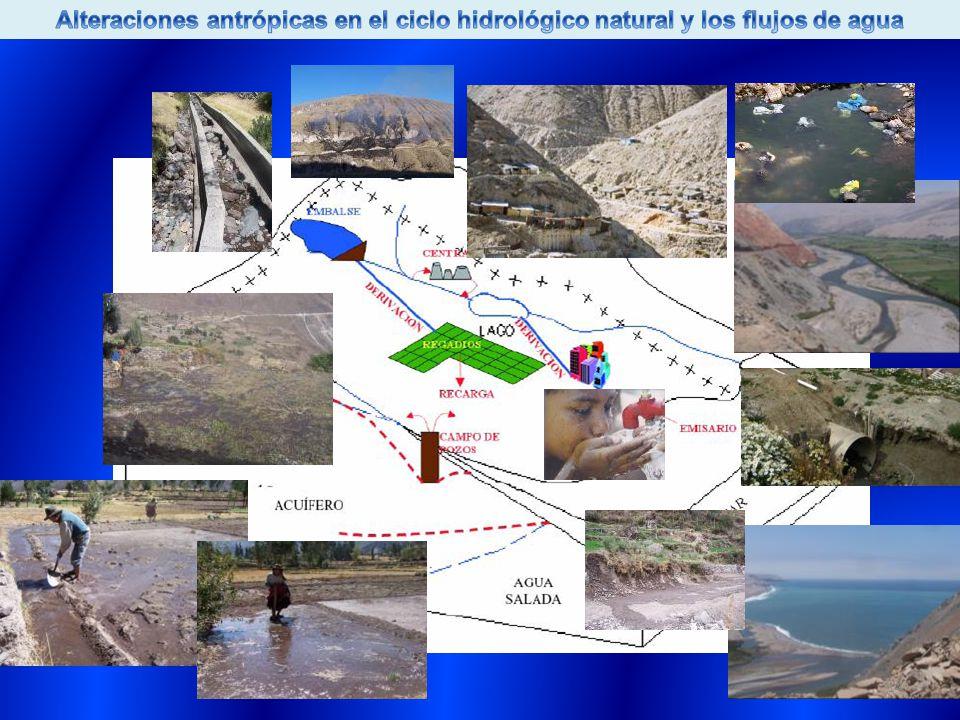 Alteraciones antrópicas en el ciclo hidrológico natural y los flujos de agua