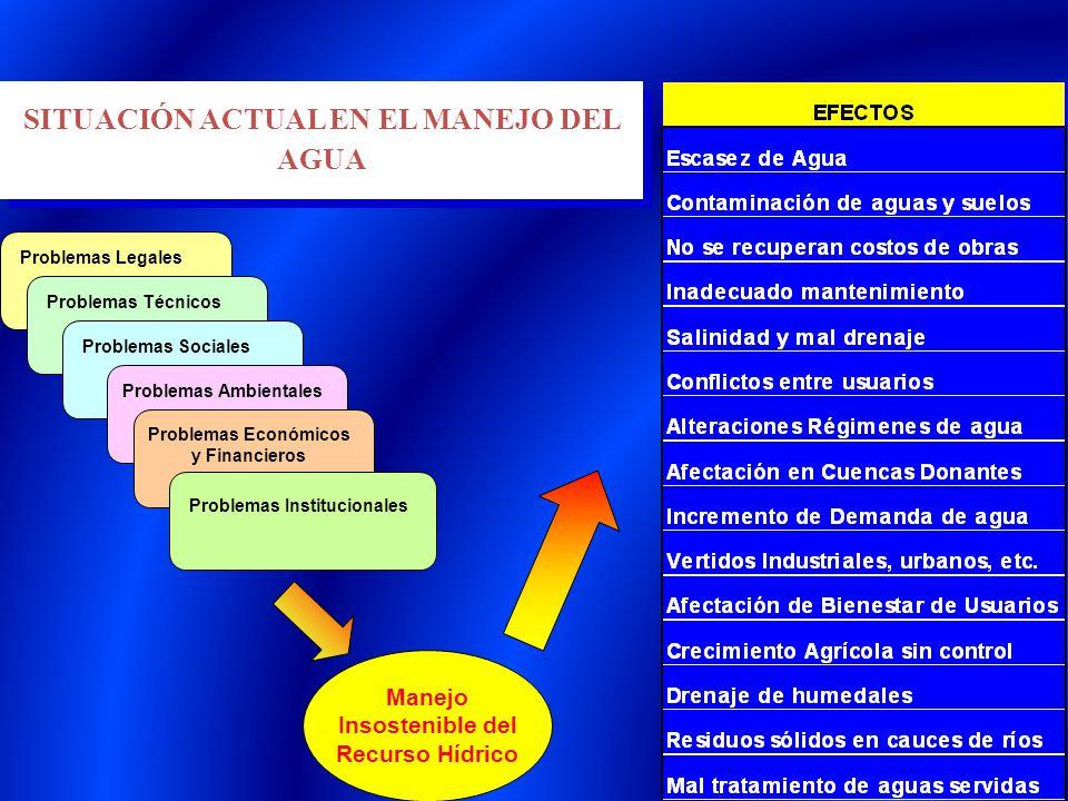 SITUACIÓN ACTUAL EN EL MANEJO DEL AGUA