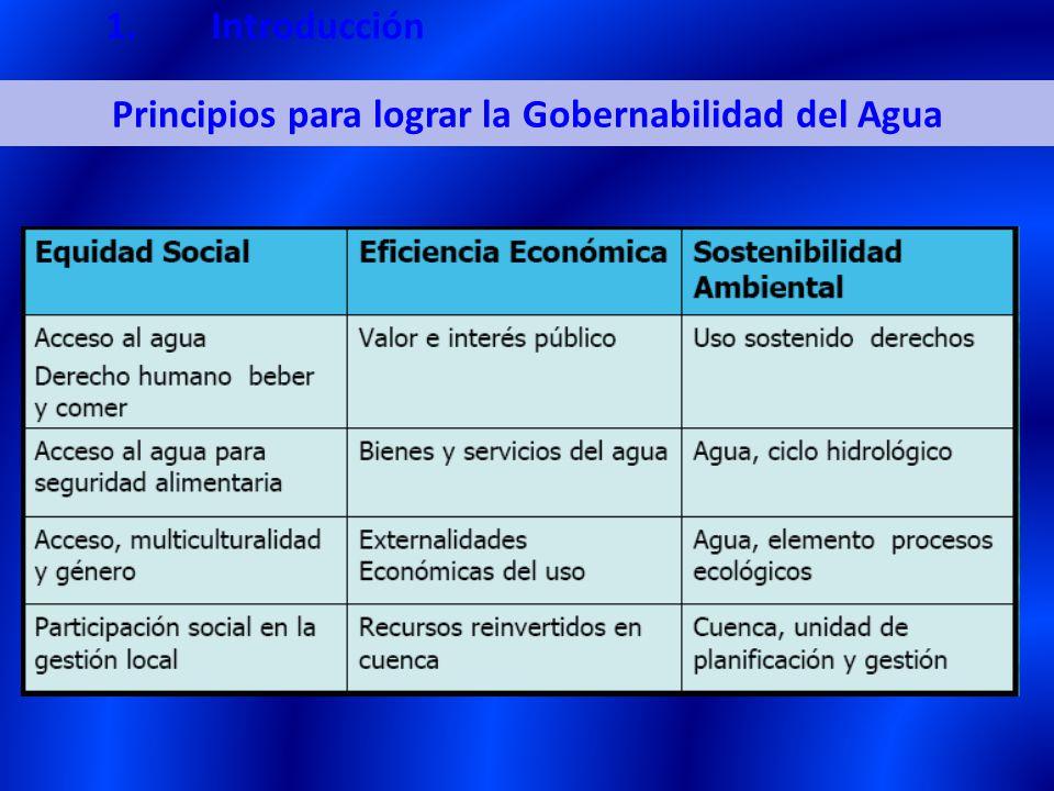 Principios para lograr la Gobernabilidad del Agua