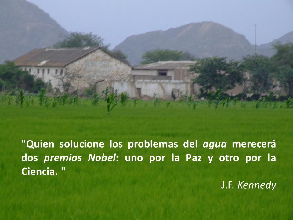 Quien solucione los problemas del agua merecerá dos premios Nobel: uno por la Paz y otro por la Ciencia.