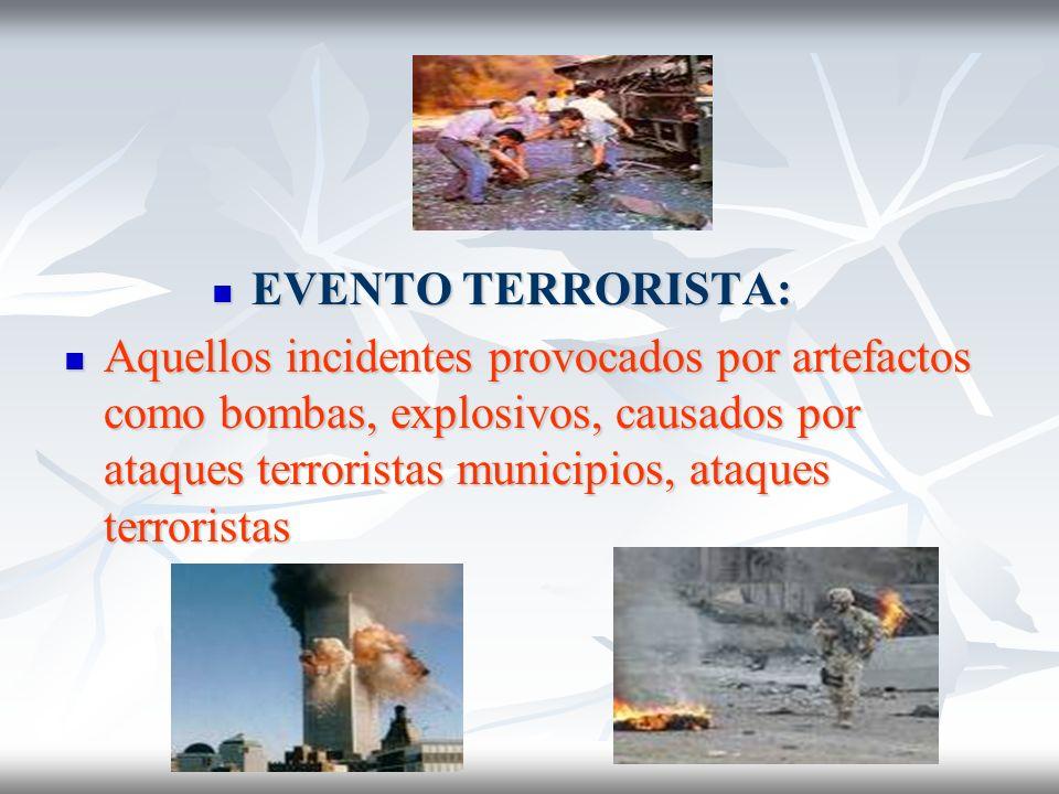 EVENTO TERRORISTA: