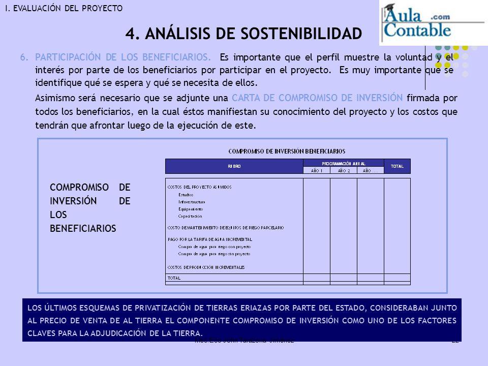 4. ANÁLISIS DE SOSTENIBILIDAD