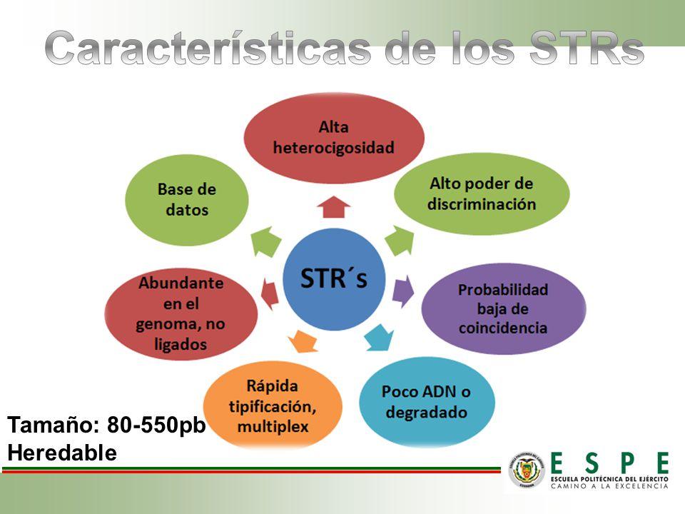 Características de los STRs